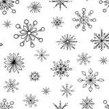 άνευ ραφής snowflake προτύπων Στοκ Εικόνες