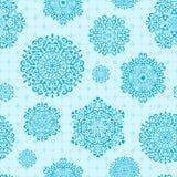Άνευ ραφής Snowflake πρότυπο Στοκ Εικόνες