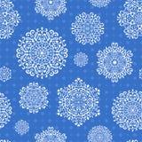 Άνευ ραφής Snowflake πρότυπο Στοκ φωτογραφία με δικαίωμα ελεύθερης χρήσης