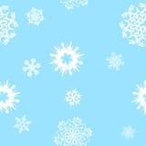 άνευ ραφής snowflakes ανασκόπησης διανυσματική απεικόνιση
