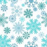 άνευ ραφής snowflakes ανασκόπησης Στοκ εικόνες με δικαίωμα ελεύθερης χρήσης