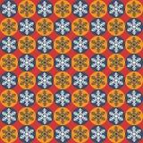 άνευ ραφής snowflakes προτύπων Χριστ απεικόνιση αποθεμάτων