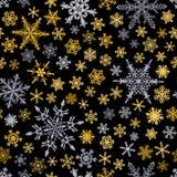 άνευ ραφής snowflakes προτύπων Στοκ Εικόνα
