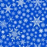 άνευ ραφής snowflakes προτύπων Στοκ εικόνα με δικαίωμα ελεύθερης χρήσης