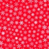 άνευ ραφής snowflakes προτύπων Στοκ Εικόνες