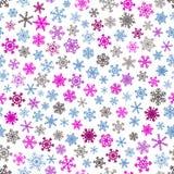 άνευ ραφής snowflakes προτύπων Στοκ Φωτογραφία