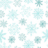 άνευ ραφής snowflakes προτύπων διανυσματική απεικόνιση