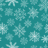 άνευ ραφής snowflakes προτύπων απεικόνιση αποθεμάτων
