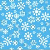 άνευ ραφής snowflakes προτύπων Στοκ Φωτογραφίες