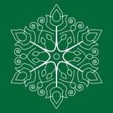 Άνευ ραφής snowflakes πρότυπο Στοκ Εικόνα