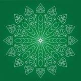 Άνευ ραφής snowflakes πρότυπο Στοκ Φωτογραφίες
