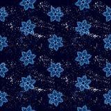 Άνευ ραφής snowflakes σχεδίων αφηρημένη απομόνωση, χειμερινό στοιχείο για το σχέδιο Στοκ Φωτογραφίες
