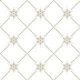 Άνευ ραφής snowflakes σχεδίων υποβάθρου Στοκ Εικόνα