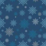 Άνευ ραφής snowflakes υπόβαθρο Στοκ Εικόνες