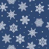 Άνευ ραφής snowflakes χειμερινού νέο έτους υπόβαθρο Διανυσματική απεικόνιση