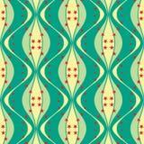 Άνευ ραφής spindle-shaped σχέδιο με τα αστέρια Στοκ Εικόνες