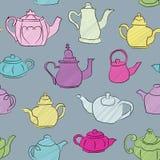 Άνευ ραφής Teapot ανασκόπηση Στοκ Εικόνες