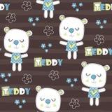 Άνευ ραφής teddy αντέχει τη διανυσματική απεικόνιση σχεδίων διανυσματική απεικόνιση