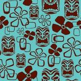 άνευ ραφής tiki προτύπων μασκών Στοκ Εικόνες