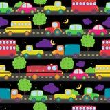 Άνευ ραφής Tileable μεταφορών σχέδιο υποβάθρου Themed Στοκ Εικόνα