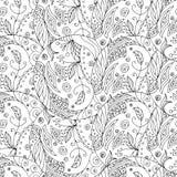 Άνευ ραφής zentangle Στοκ Εικόνες