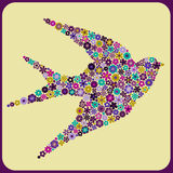 Άνθη πουλιών διανυσματική απεικόνιση