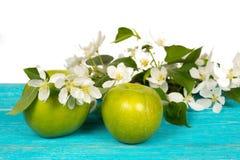 Άνθη της Apple και δέντρων μηλιάς σε έναν ξύλινο πίνακα Στοκ φωτογραφία με δικαίωμα ελεύθερης χρήσης