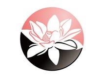 Άνθιση Lotus στον κύκλο Ελεύθερη απεικόνιση δικαιώματος