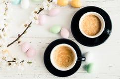 Άνθος καφέ και κερασιών Στοκ Εικόνες