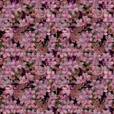 Άνθος κερασιών, λουλούδια μήλων, εκλεκτής ποιότητας γραπτή χέρι σημείωση Μαύρη ανασκόπηση Μυστήριο σχέδιο επανάληψης Στοκ Εικόνες