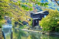 Άνθος κερασιών σε Arashiyama, Κιότο, Ιαπωνία Στοκ εικόνες με δικαίωμα ελεύθερης χρήσης