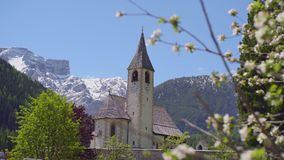 Άνθος σε Fron της εκκλησίας και των βουνών απόθεμα βίντεο