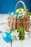 Άνθος της Apple και αυγά Πάσχας Στοκ Εικόνα