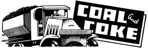 Άνθρακας και κοκ ελεύθερη απεικόνιση δικαιώματος