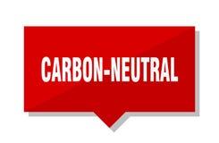 Άνθρακας-ουδέτερη κόκκινη ετικέττα ελεύθερη απεικόνιση δικαιώματος