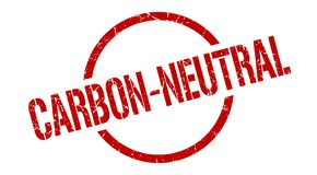 Άνθρακας-ουδέτερο γραμματόσημο διανυσματική απεικόνιση
