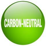 άνθρακας-ουδέτερο κουμπί διανυσματική απεικόνιση