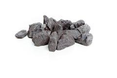 Άνθρακας που απομονώνεται στο άσπρο υπόβαθρο Στοκ φωτογραφίες με δικαίωμα ελεύθερης χρήσης