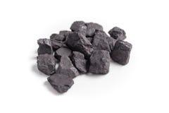 Άνθρακας που απομονώνεται στο άσπρο υπόβαθρο Στοκ Φωτογραφίες