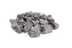 Άνθρακας που απομονώνεται στο άσπρο υπόβαθρο Στοκ Εικόνα