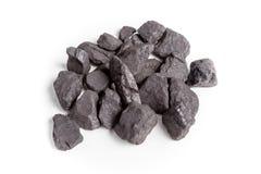 Άνθρακας που απομονώνεται στο άσπρο υπόβαθρο Στοκ φωτογραφία με δικαίωμα ελεύθερης χρήσης