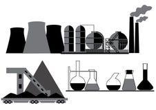 Άνθρακας, χημική ουσία, βιομηχανία πετρελαίου ελεύθερη απεικόνιση δικαιώματος