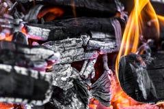 Άνθρακες ως υπόβαθρο Στοκ Εικόνα