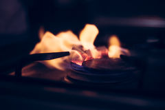 Άνθρακες Hookah Floaming Στοκ εικόνες με δικαίωμα ελεύθερης χρήσης