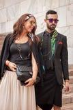 Άνθρωποι έξω από τις επιδείξεις μόδας του Marco de Vincenzo που χτίζουν για την εβδομάδα 2014 μόδας των γυναικών του Μιλάνου Στοκ φωτογραφία με δικαίωμα ελεύθερης χρήσης