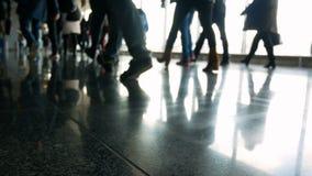 Άνθρωποι αερολιμένων επιβατών απόθεμα βίντεο