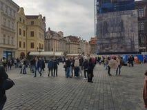 Άνθρωποι απογεύματος κεντρικού Σεπτεμβρίου Praga στοκ εικόνα με δικαίωμα ελεύθερης χρήσης