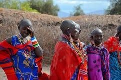 Άνθρωποι από τη φυλή Masai Στοκ εικόνες με δικαίωμα ελεύθερης χρήσης