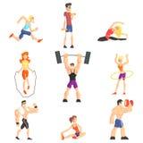 Άνθρωποι γυμναστικής καθορισμένοι ελεύθερη απεικόνιση δικαιώματος