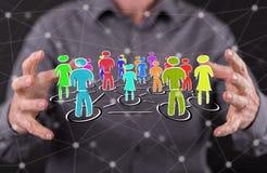 άνθρωποι δικτύων ομάδας έννοιας δυαδικού κώδικα ανασκόπησης κοινωνικοί Στοκ φωτογραφίες με δικαίωμα ελεύθερης χρήσης